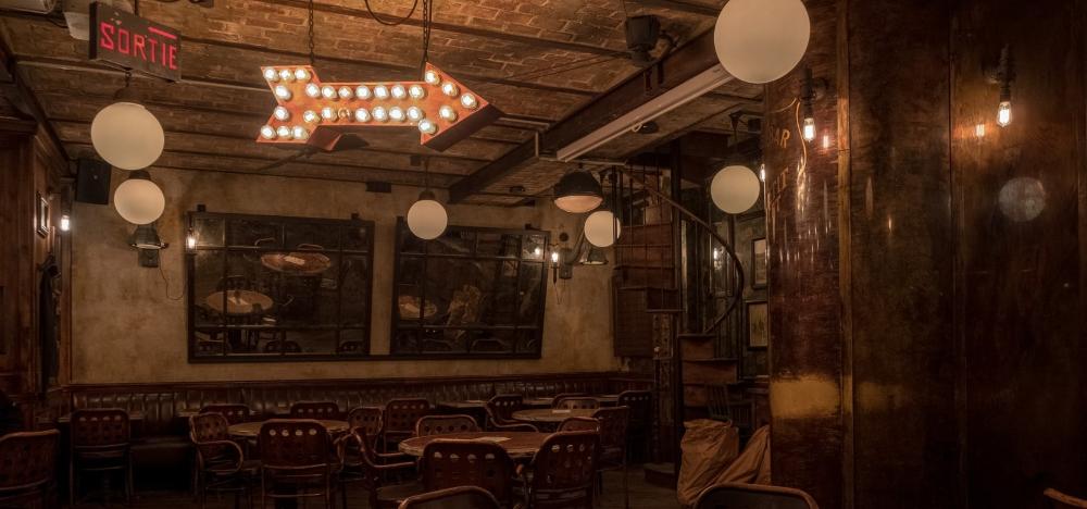 antique furniture in bar