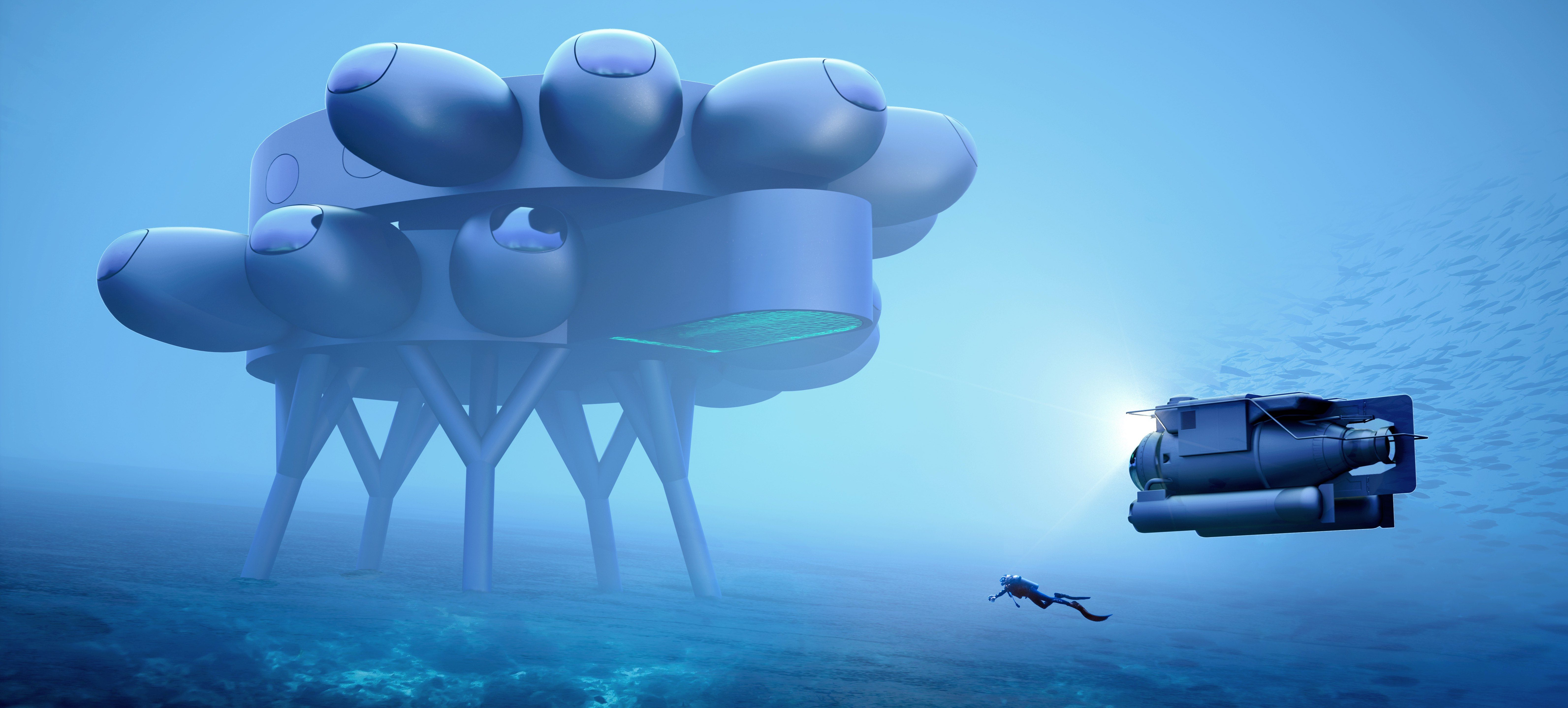 Proteus Underwater Station, created by Fabien Cousteau and Yves Béhar