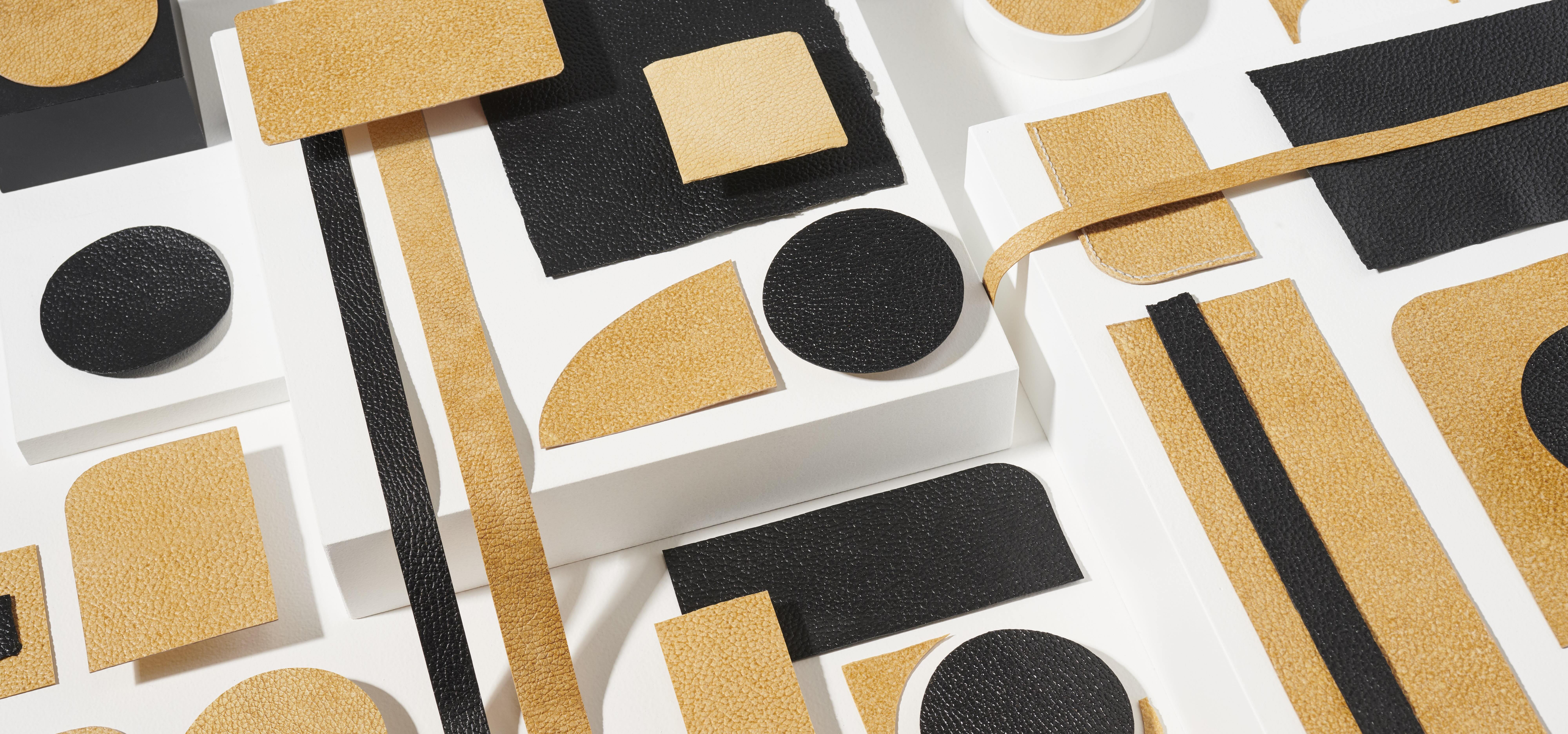 swatches of alternative leather Mylo