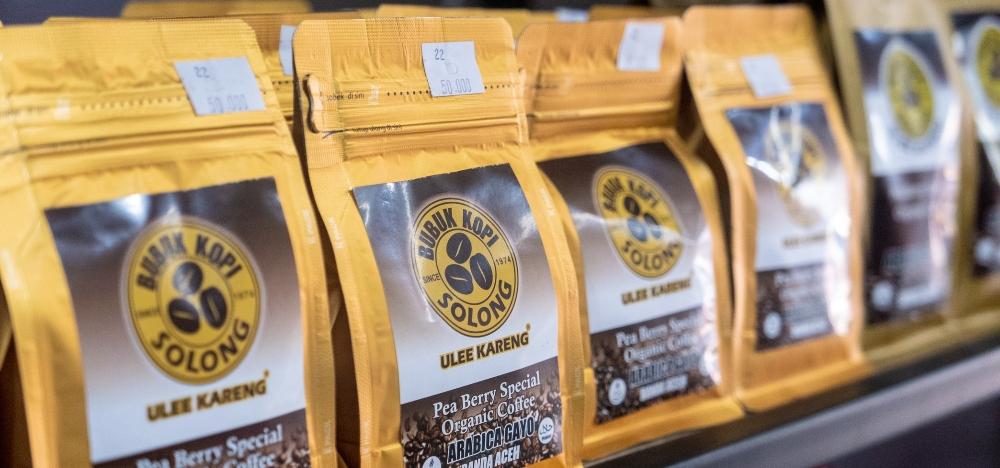 coffee bean packets